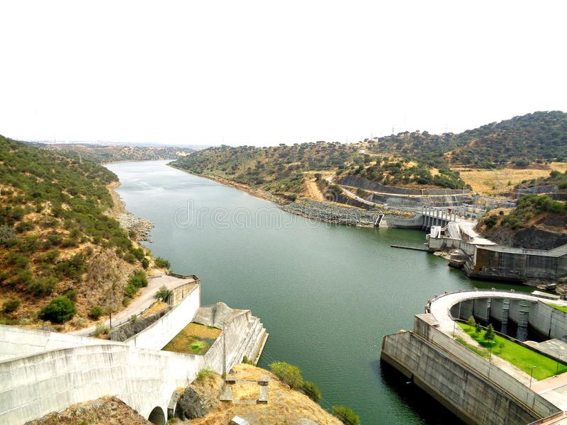 electric dam in Portugal stock images
