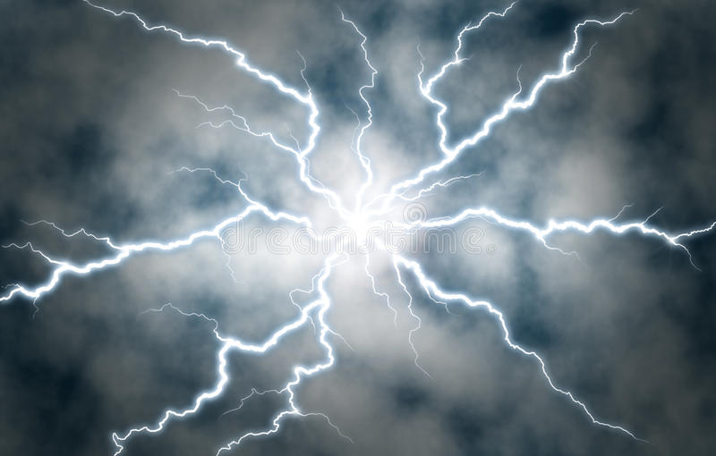 Electric Discharge stock image