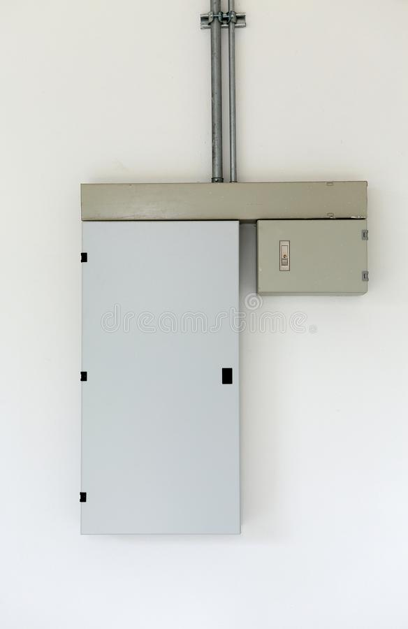 Electric distribution box on wall royalty free stock photography