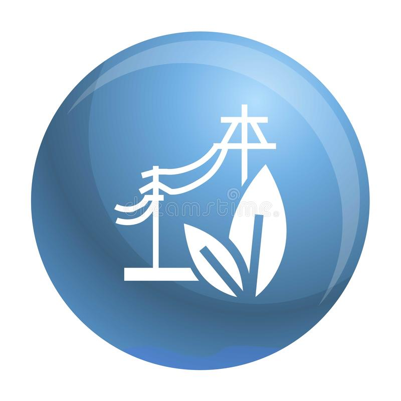 Electric eco energy icon, simple style vector illustration