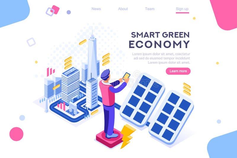 Digital Electric Economy House Device stock illustration