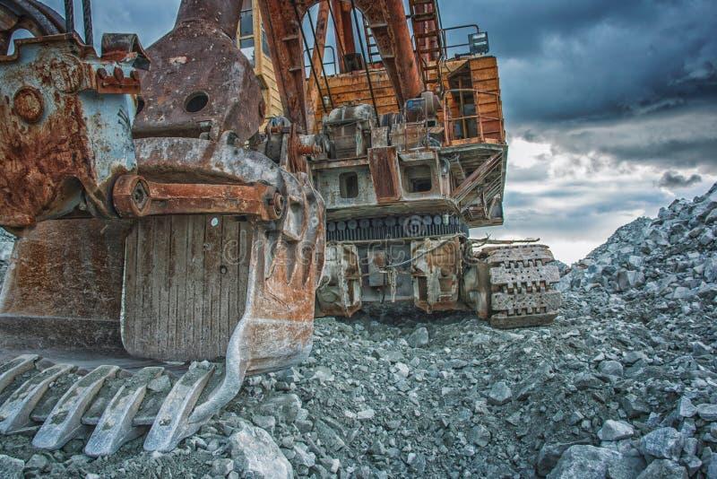 Electric excavator stock image