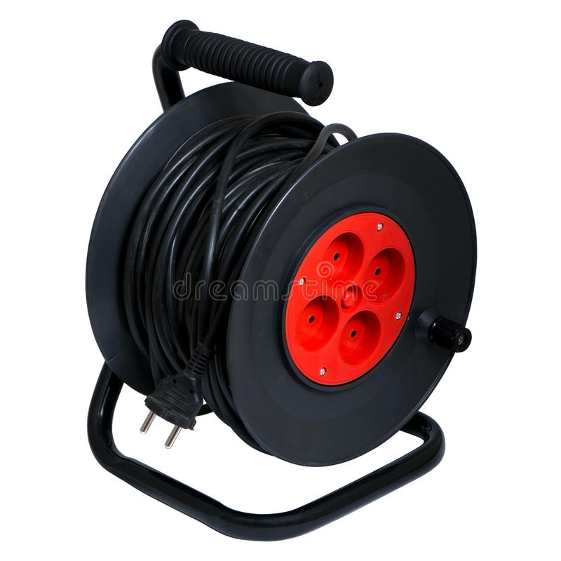 Download Electric Extension Prong And Reel Stock Image - Image: 15238431