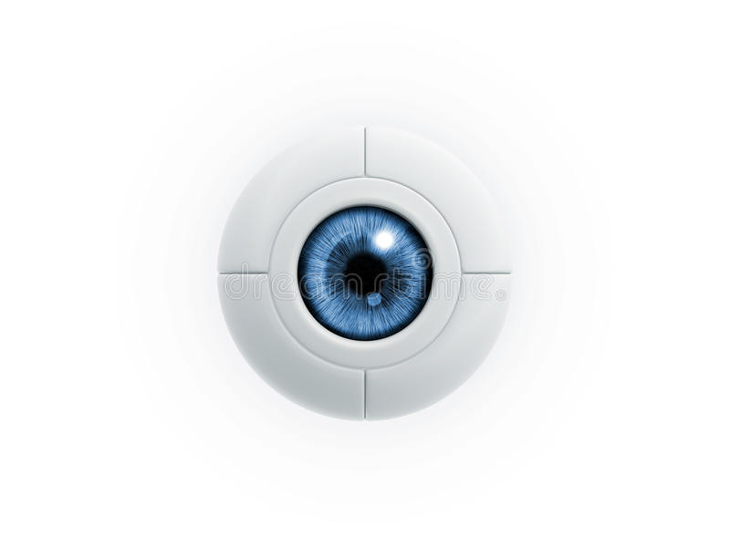 Download Electric eye stock illustration. Illustration of secrecy - 21158627