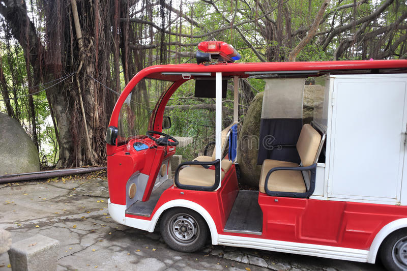 Electric fire truck. In amoy city, china royalty free stock image