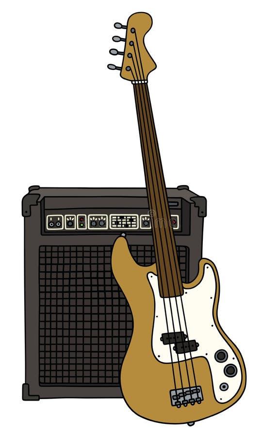 Bass Guitar Stock Vector Illustration Of Music Rock