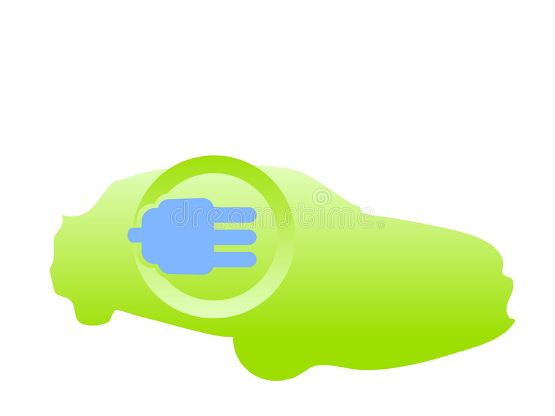 Electric fueled car logo vector stock illustration