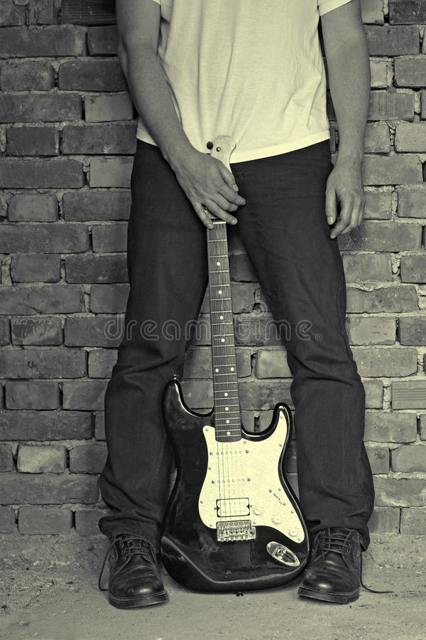 Download Electric guitar stock photo. Image of black, fretboard - 13991812