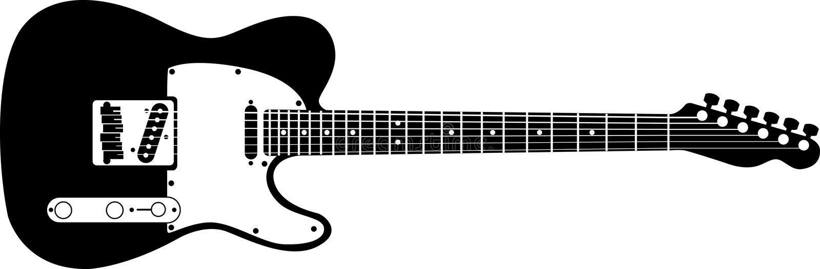 Electric Guitar Stock Vector Illustration Of Loud Frets 2366564