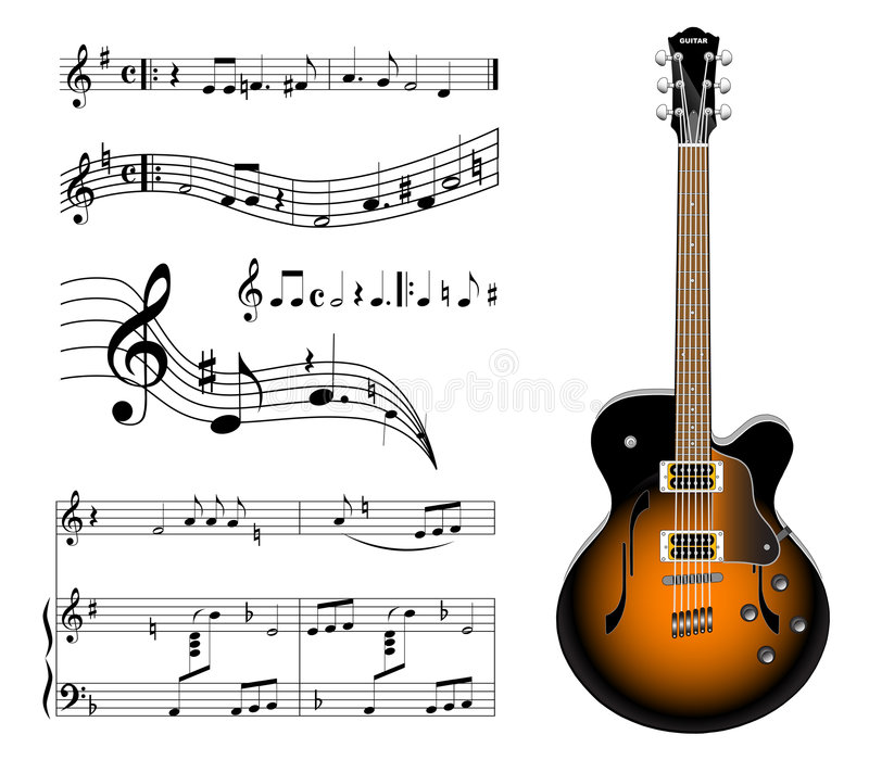 Electric guitar vector illustration