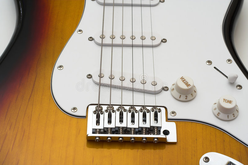Electric guitar. royalty free stock images