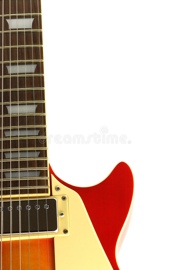 Electric Guitar. Isolated in white stock photos