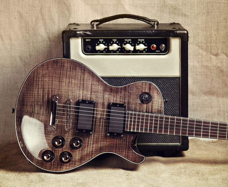 electric guitar and amplifier stock photo image of neck photo 35378044. Black Bedroom Furniture Sets. Home Design Ideas