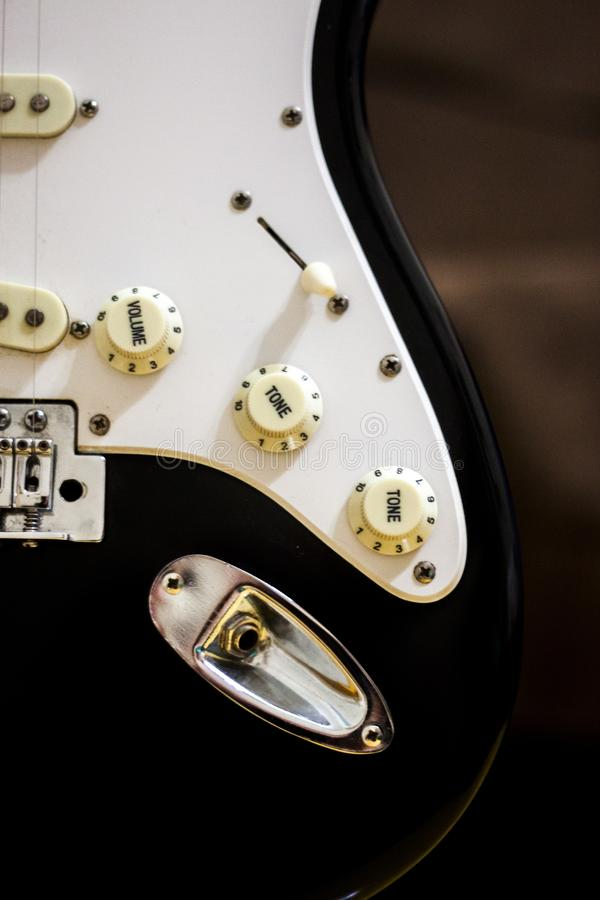 Electric Guitar Amplifier Cord Port stock image