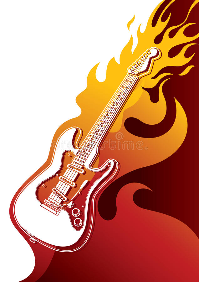 Electric guitar banner