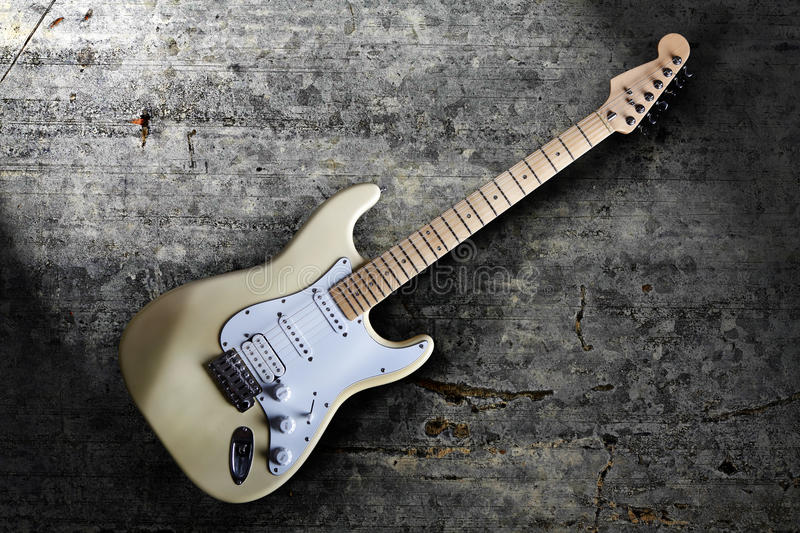Electric guitar on black. Background royalty free stock image