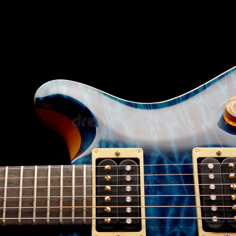 Electric Guitar Body. A Custom Electric Guitar Body royalty free stock images
