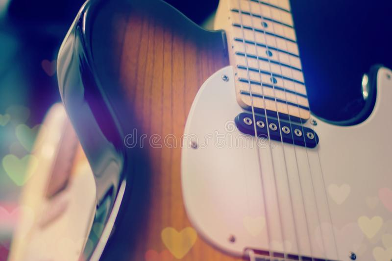 Electric guitar close up detail.  royalty free stock photography