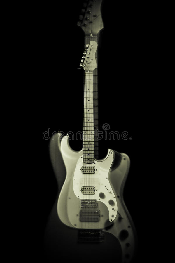 Electric Guitar Ghost stock image