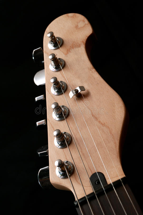Download Electric guitar headstock stock photo. Image of equipment - 15813646