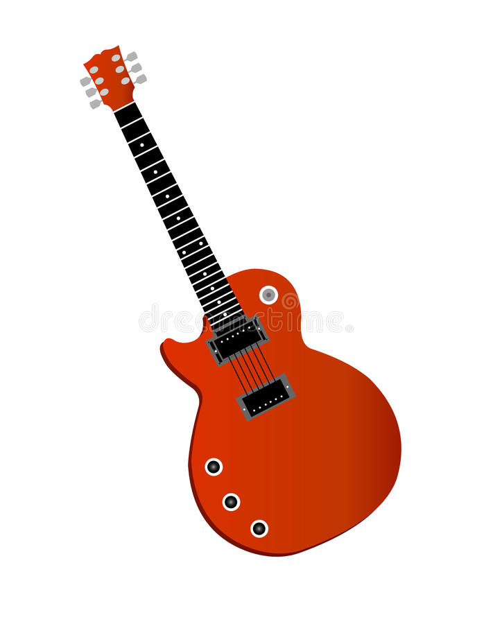Download Electric guitar isolated stock vector. Image of computer - 14067975