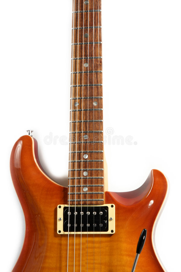 Electric guitar isolated royalty free stock image