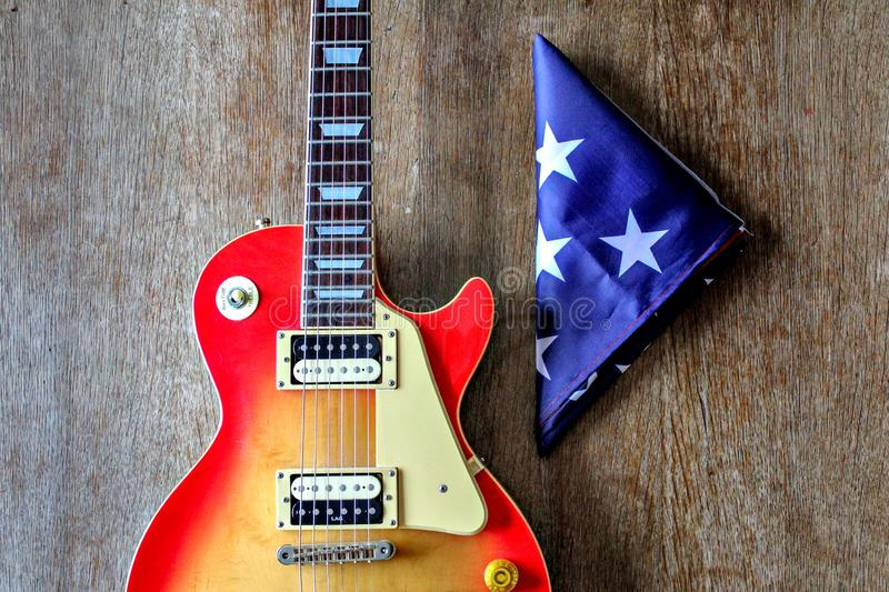 Electric guitar Les Paul royalty free stock photos