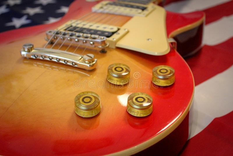 Electric guitar Les Paul royalty free stock image