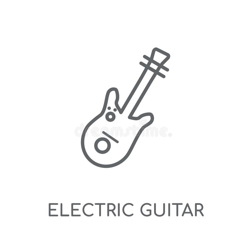 Electric guitar linear icon. Modern outline Electric guitar logo stock illustration