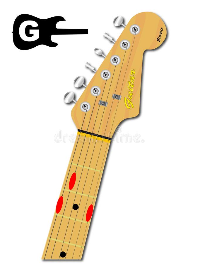 The Guitar Chord Of G Major Stock Vector - Illustration of playing ...