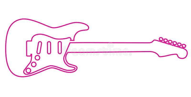 Electric Guitar Outline Stock Photos