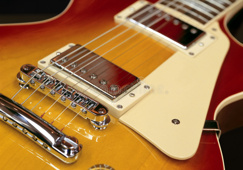 Electric guitar pickups royalty free stock images