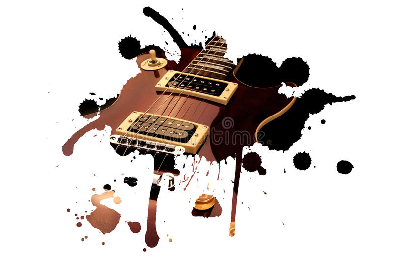 Download Electric guitar splash stock image. Image of guitar, classical - 20903759