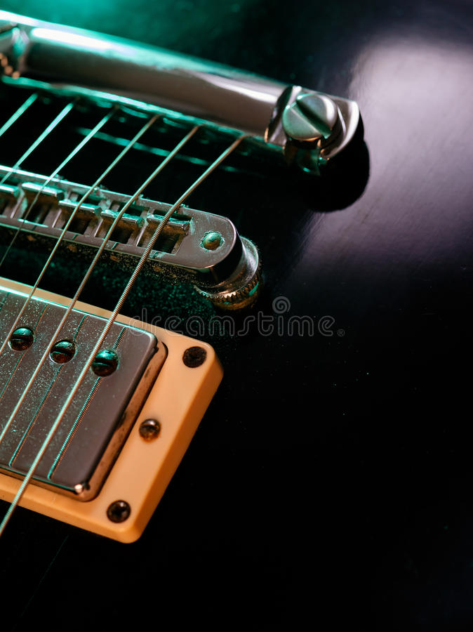 electric guitar strings and bridge closeup stock images image 33063714. Black Bedroom Furniture Sets. Home Design Ideas