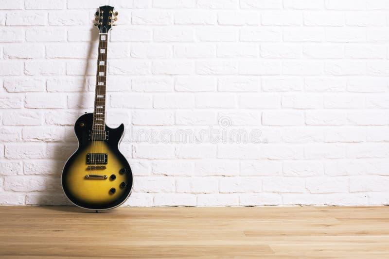 Electric guitar in studio stock images