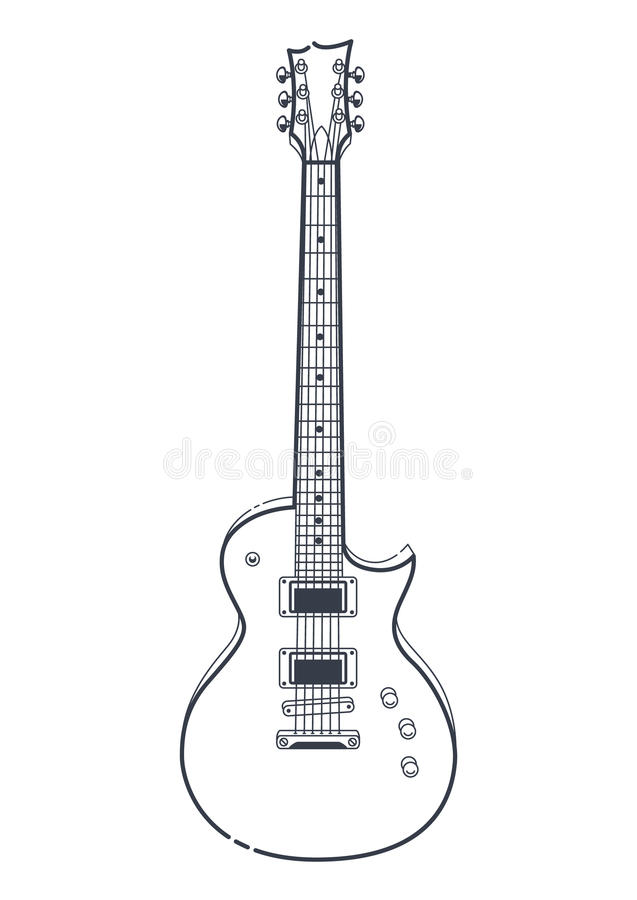 Free Electric Guitar Vector Royalty Free Stock Photography - 90290857