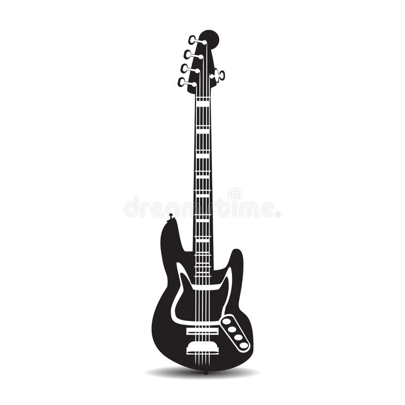 Electric guitar, vector illustration in flat style stock image