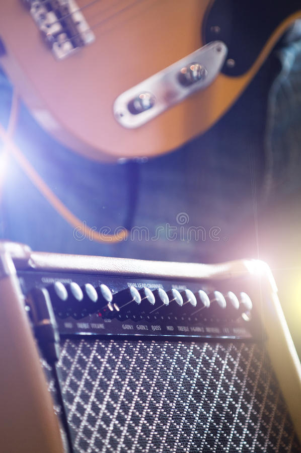 Free Electric Guitar With Amp Stock Photo - 19972660