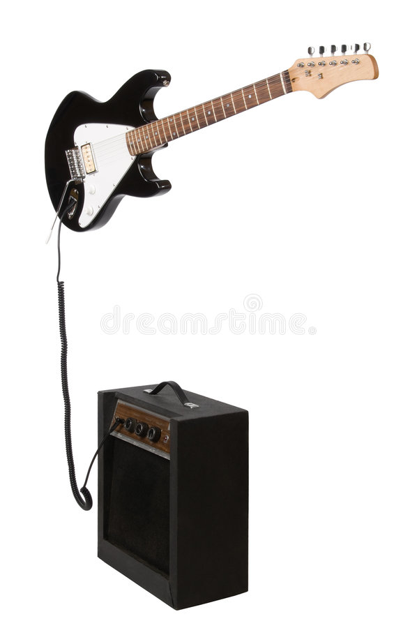 Free Electric Guitar With Amp Royalty Free Stock Image - 5234656