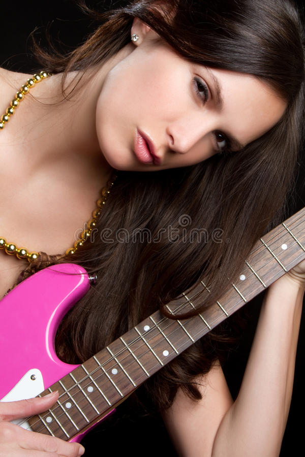 Download Electric Guitar Woman Royalty Free Stock Photos - Image: 13929118