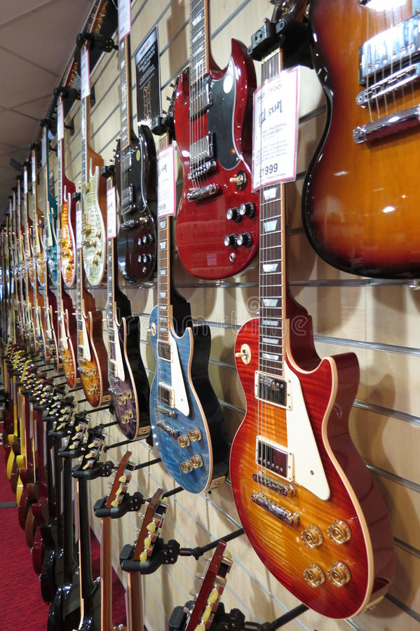 Gibson electric guitars royalty free stock photo