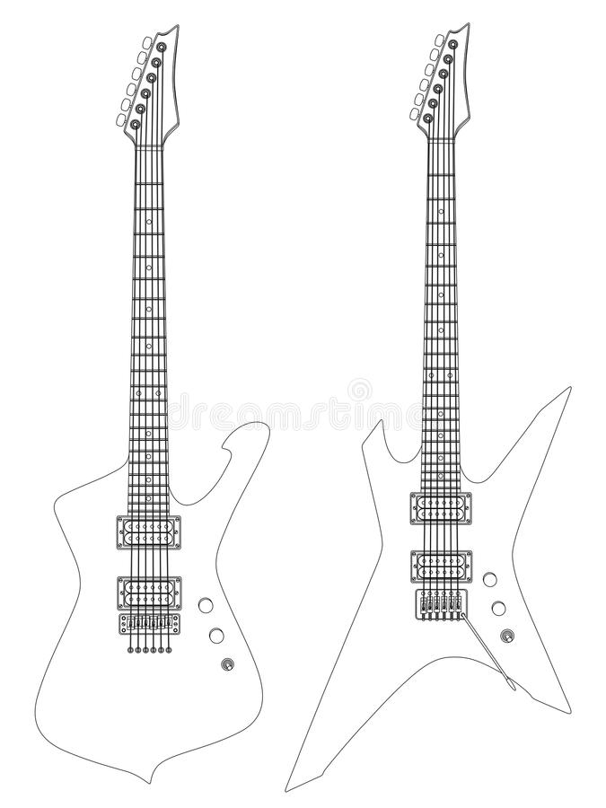 Download Electric guitars stock vector. Image of musical, music - 13074376