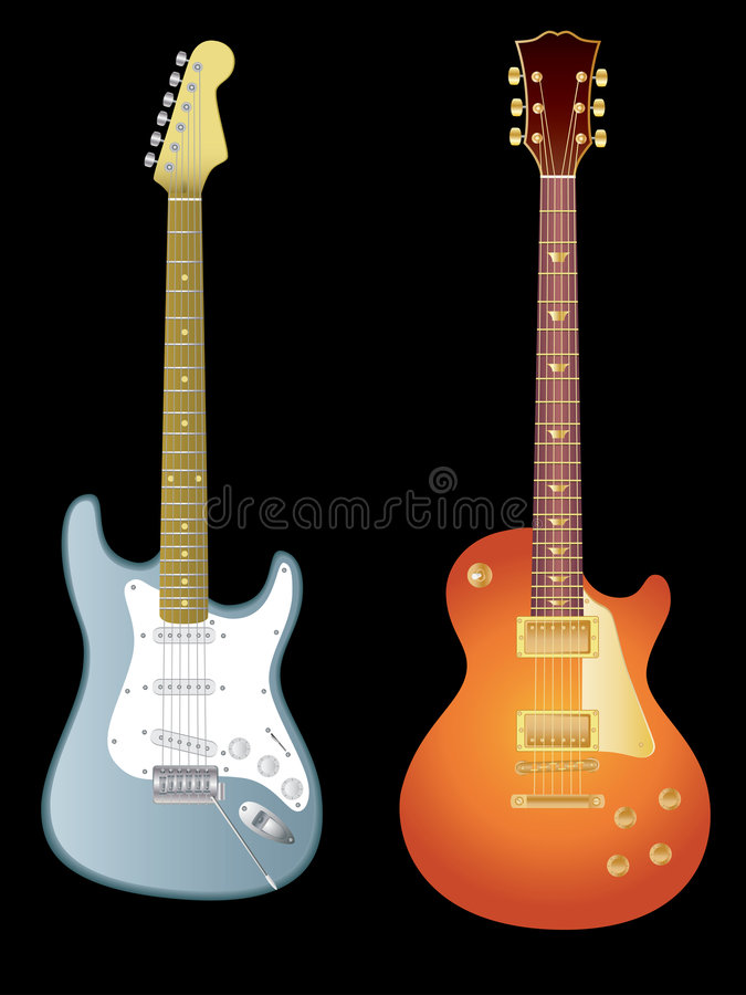 Download Electric guitars stock vector. Image of sound, string - 7549889