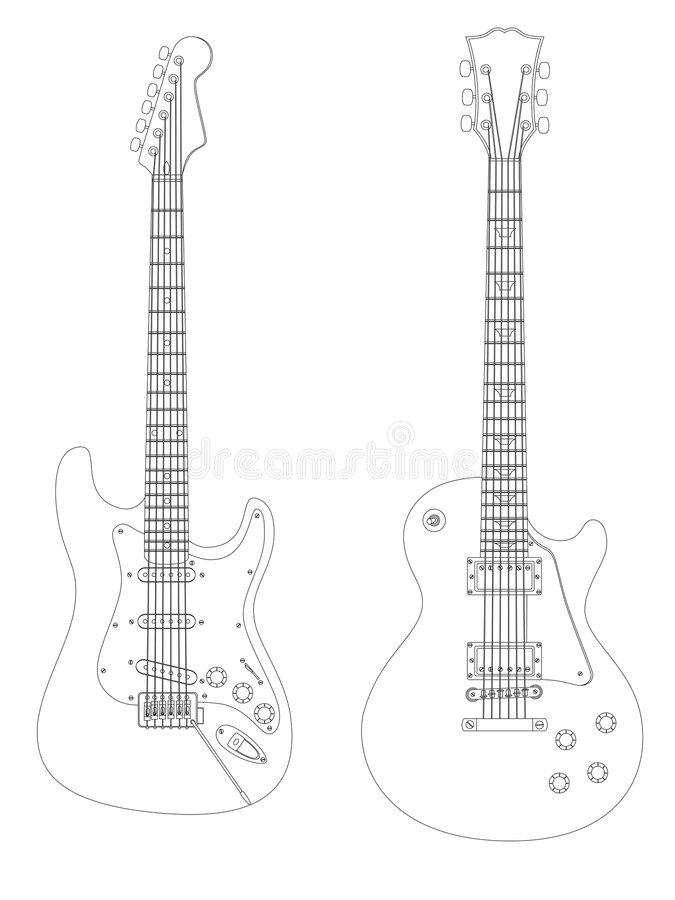 Download Electric guitars stock vector. Image of electric, isolated - 8408426