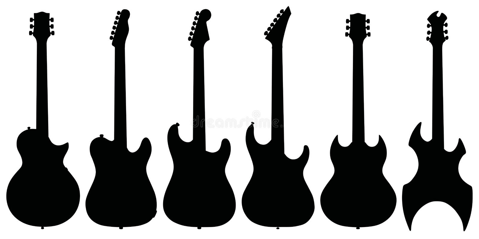 Electric guitars vector illustration