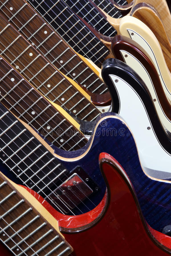 Guitars royalty free stock images
