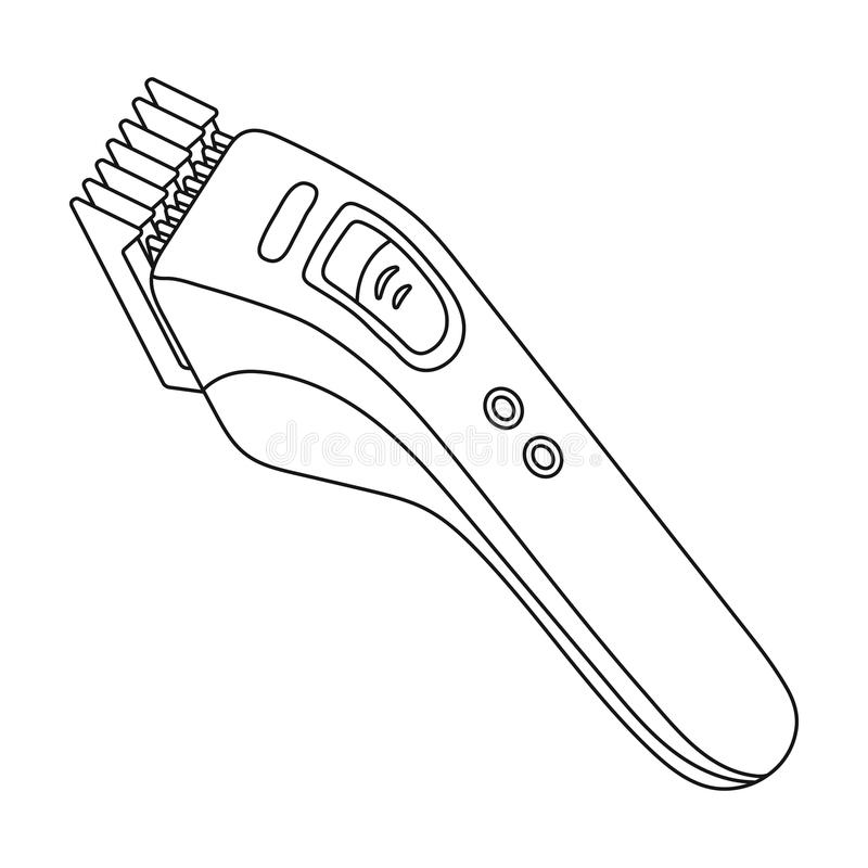 Electric Hair Clipper Barbershop Single Icon In Outline Style Vector Symbol Stock Illustration Web Stock Vector Illustration Of Outline Clipper 91628252