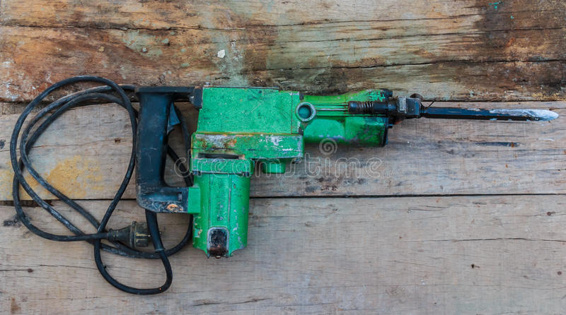 Electric hammer Plugger royalty free stock photography