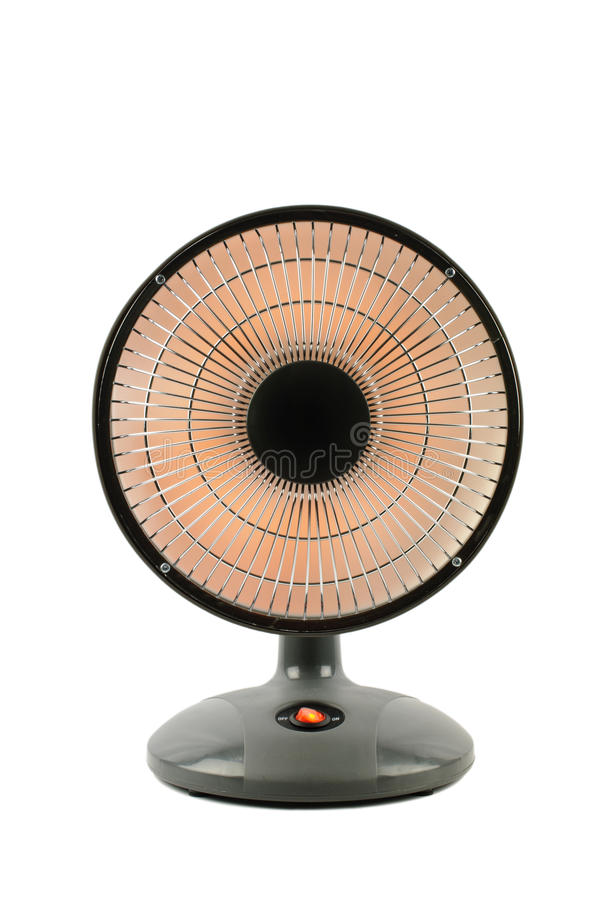 Electric Heater. Close-up of a small electric heater stock photography