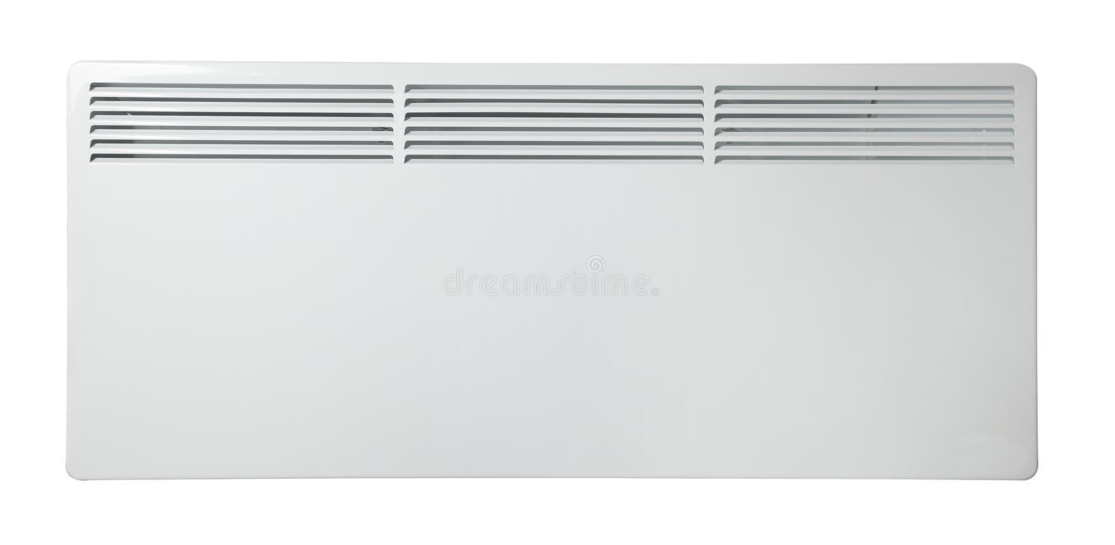 Electric heater battery. Radiator. Isolated on white background. royalty free stock photos